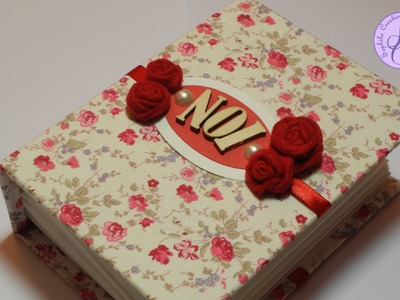 Tutorial: Album in tessuto per San Valentino (fabric photo album for Valentine) [eng-sub]