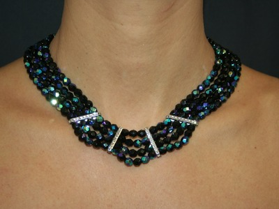 DIY Necklace with Swarovski Strass Bars and Fire Polished Beads - www.perlinebijoux.com