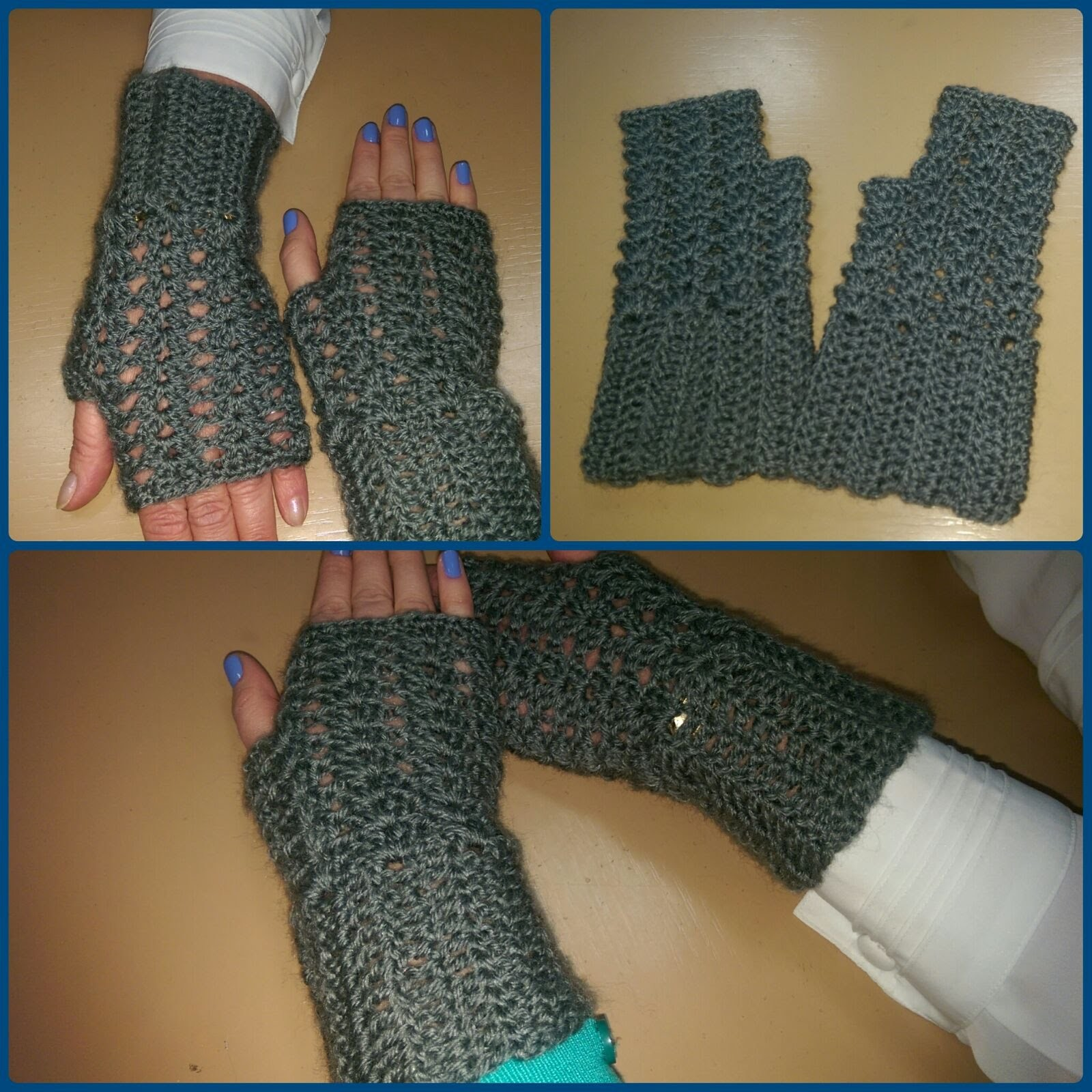 Guanti senza dita all'uncinetto - Tutorial scaldamani - How to crochet fingerless gloves