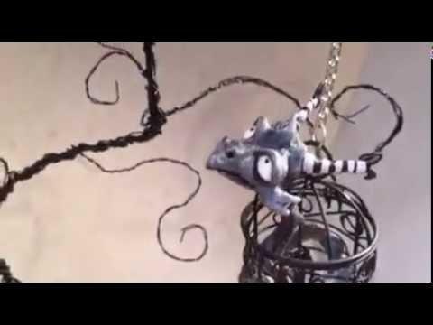 Tim Burton Inspired Dragon - Polymer clay Dragon