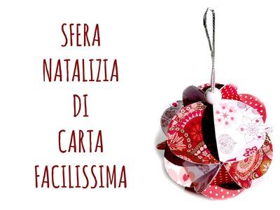 Palla di Natale di Carta, FACILISSIMA! (NATALE) Arte per Te