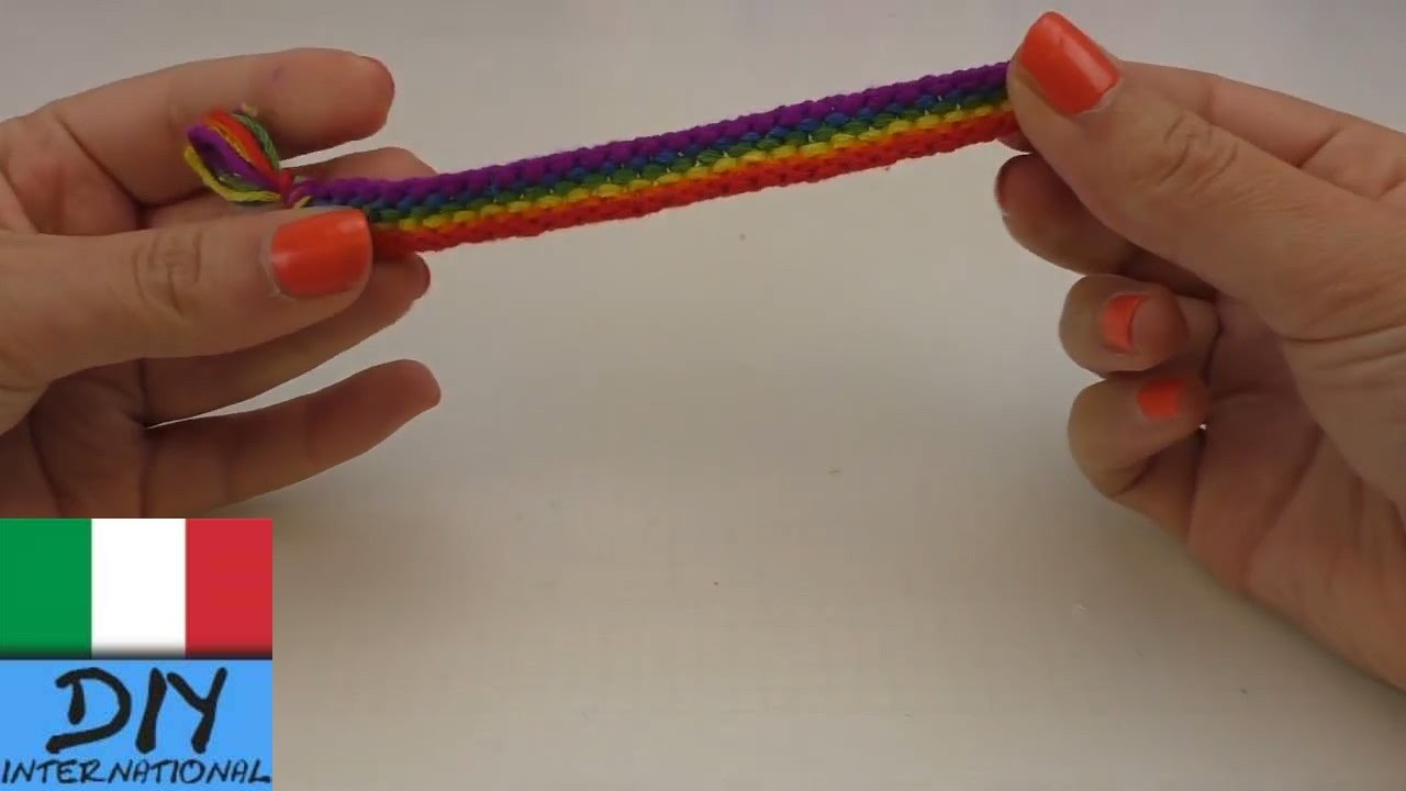 Braccialetto arcobaleno nodi su nodi| Braccialetto dell´amicizia dai da te | DIY