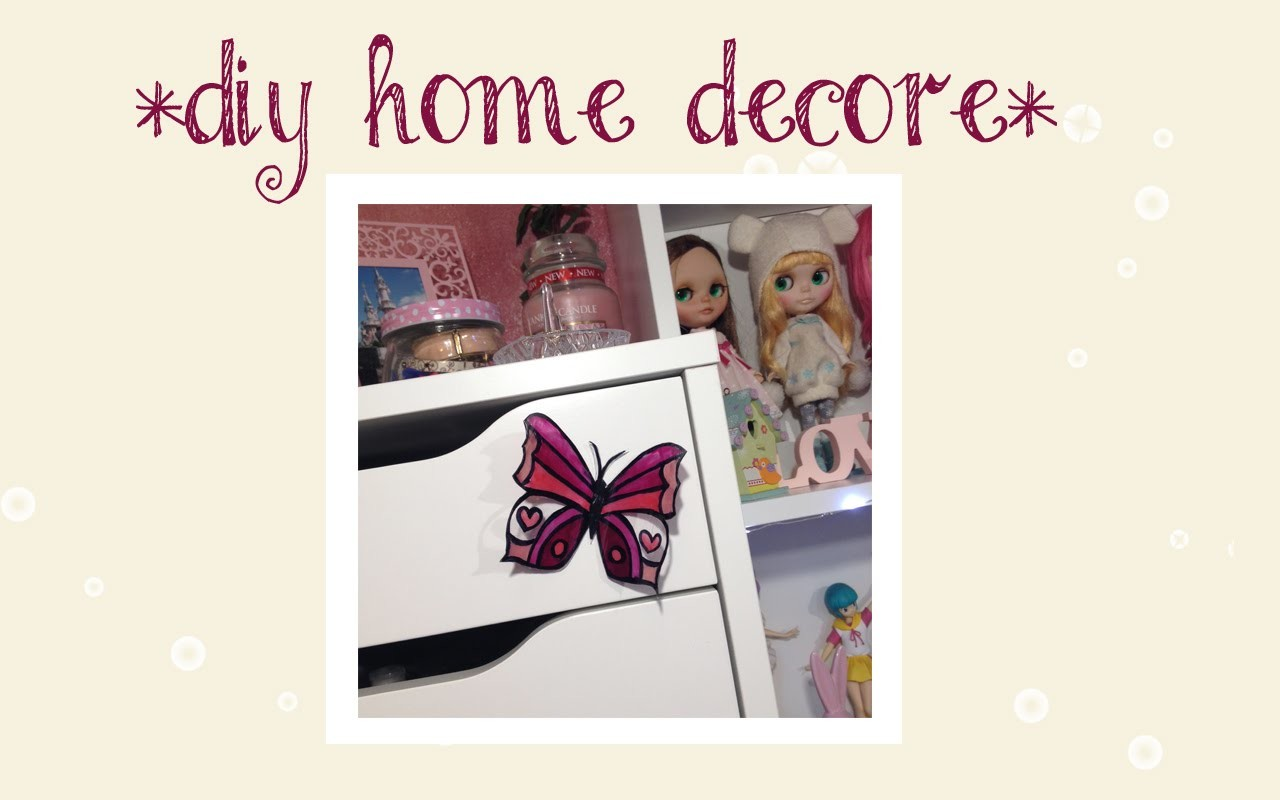 *DIY HOME DECOR* Farfalle Adesive | Elena Dreamer