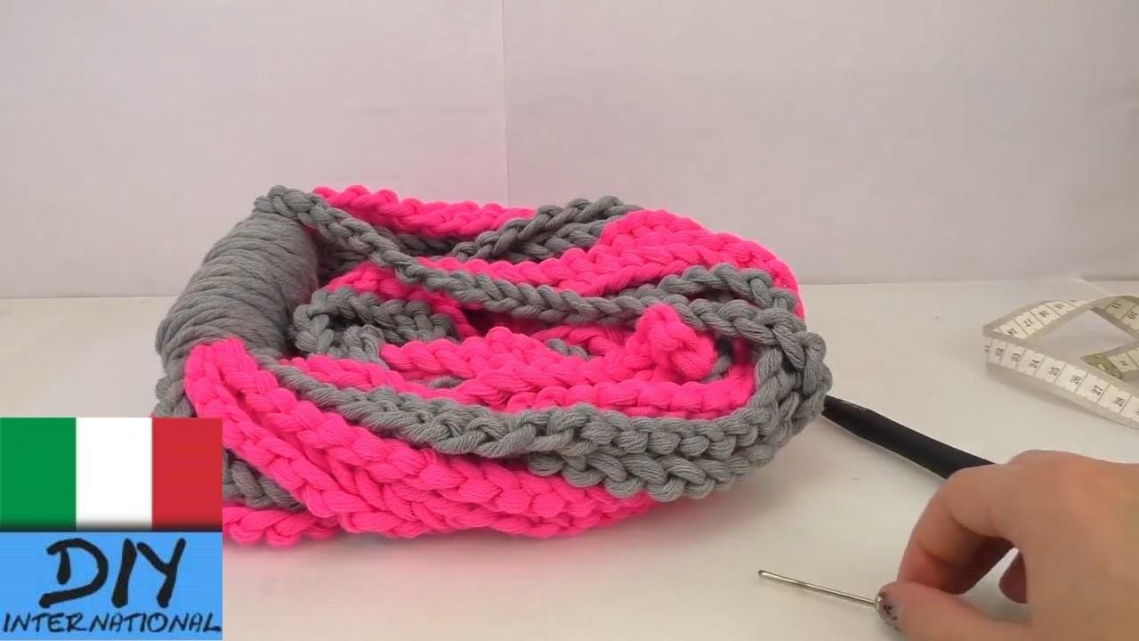 Sciarpa ad anello doppio Crochet - Tutorial per una sciarpa ad anello doppio con catenelle