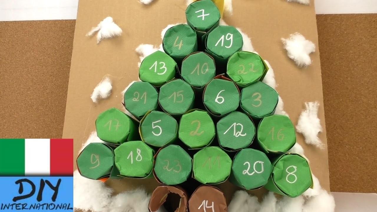 Calendario dell' avvento albero di Natale - calendario avvento fai da te