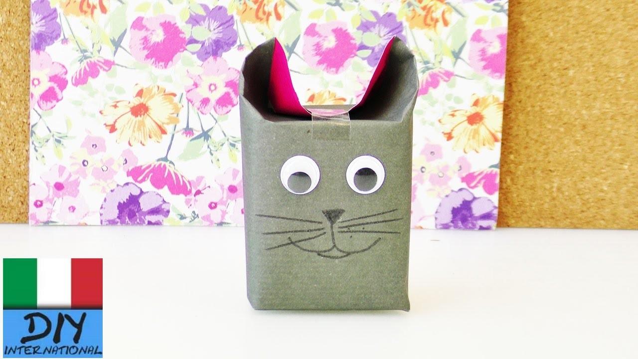 Confezione regalo fai da te | Super idea carina per i regali con volto animale | Natale Avvento