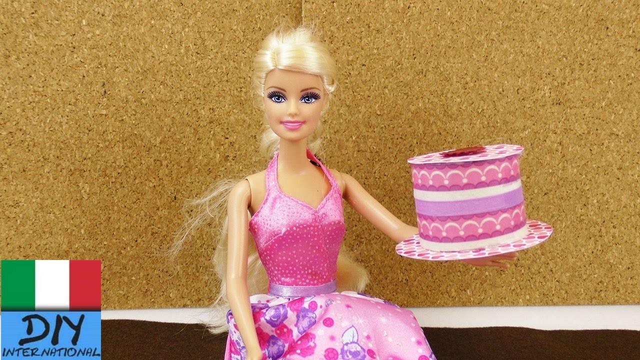 Fai da te Barbie - Torta alla crema di carta per il gioco e la decorazione