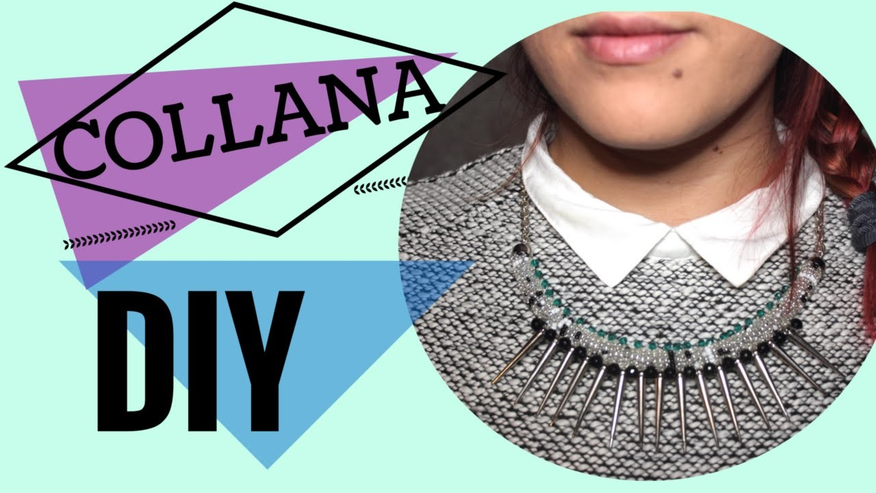 Collana DIY|| perline e borchie