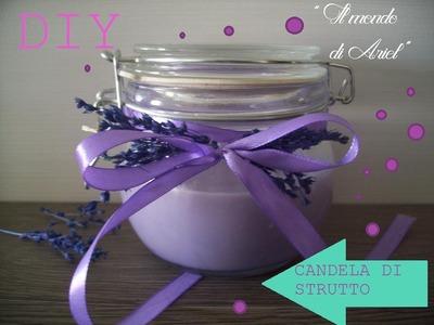 DIY candela di strutto personalizzata e profumata