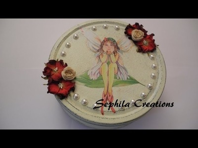 Tutorial: Decoupage e shabby chic su scatola di metallo (decoupage shabby on metal box)