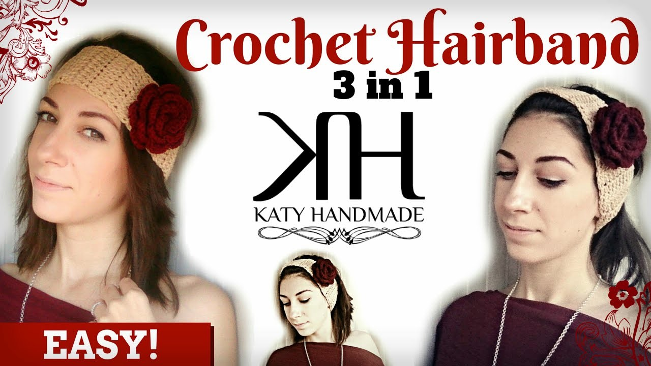 ❁ [Tutorial Uncinetto #16] Fascia per capelli | Hair band | Crochet ❁