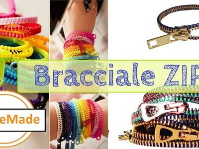 Braccialetto con cerniera zip. Diy zip bracelet