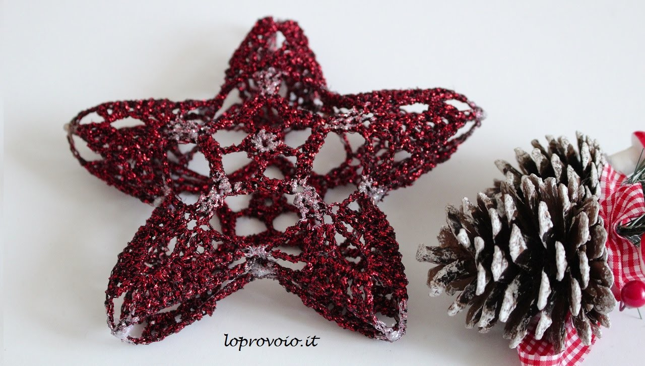 Stella 3D all'uncinetto - 3D crochet star