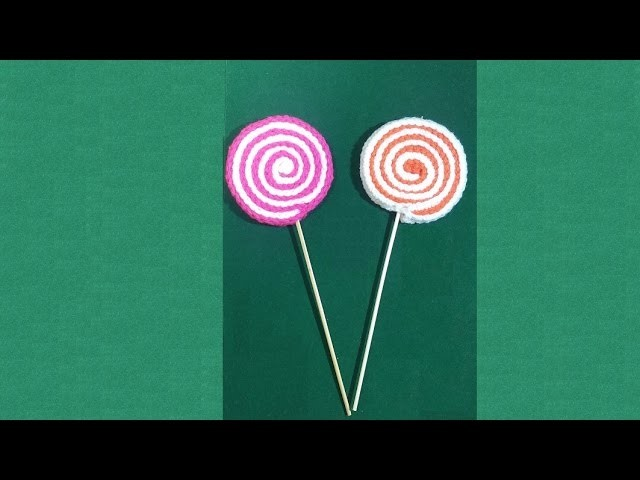 Lecca-lecca all'uncinetto - tutorial crochet lollipop - pirulí en crochet