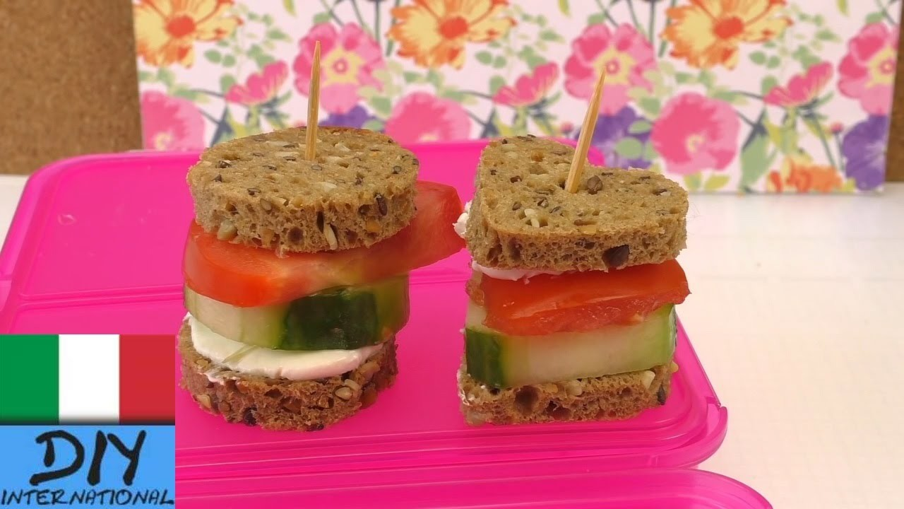 Snack per la scuola, l´università e il lavoro – buonissimi Minihamburger fatti con pane e verdure