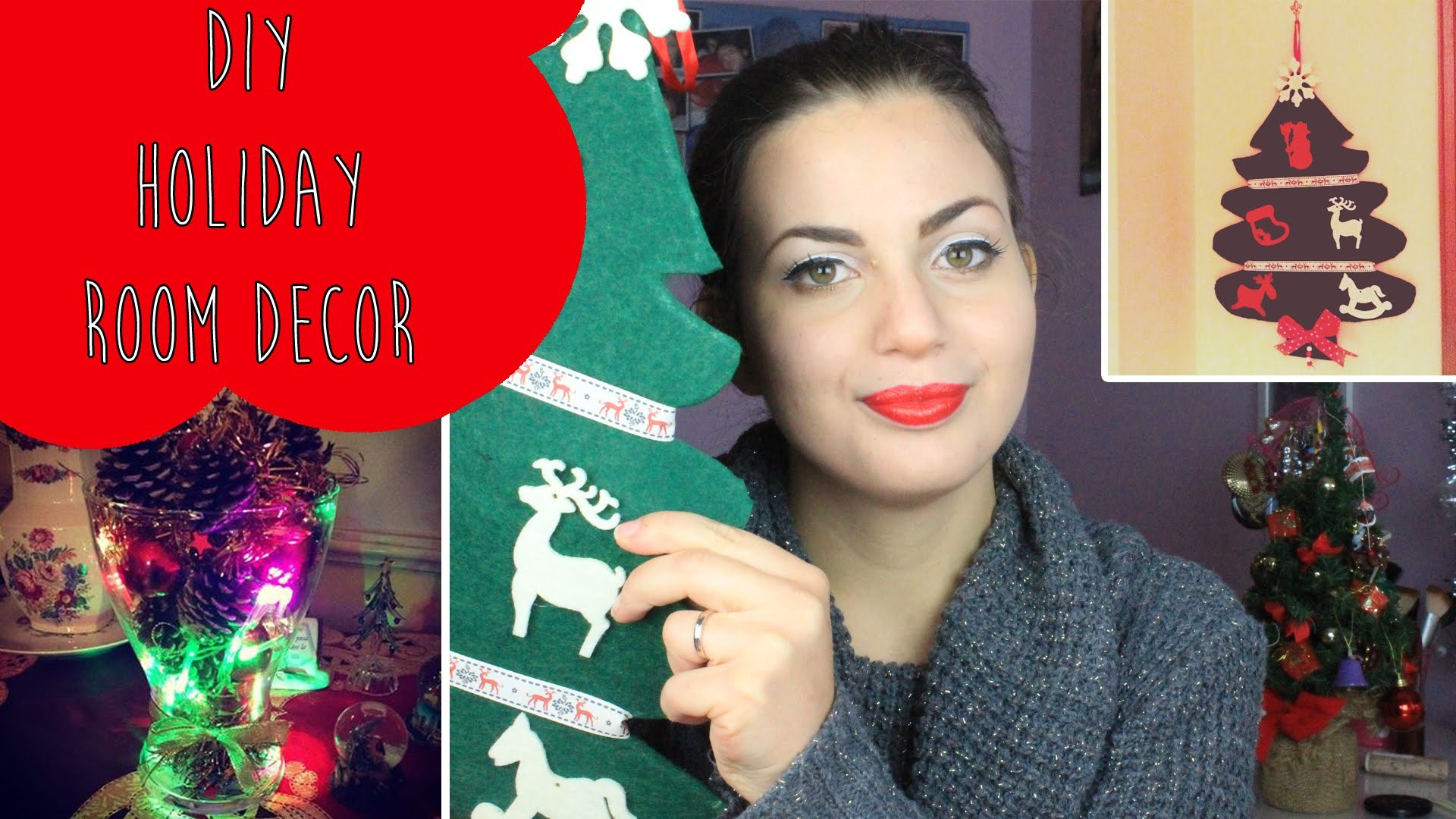 DIY Holiday Room Decor ♡ Decorazioni natalizie fai da te