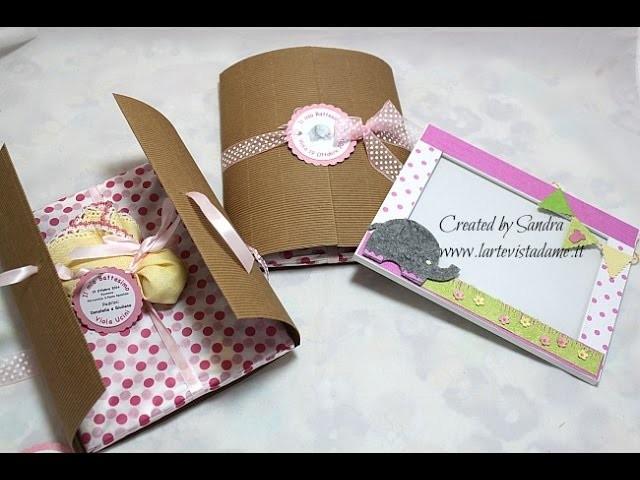 Bomboniere Battesimo fai da te-Cornice portafoto e confezione-Scrap tutorial-ft. Sweet Bio Design