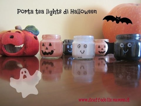 [Tutorial] Porta tea lights di Halloween
