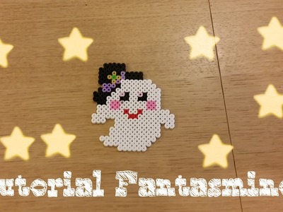 Tutorial fantasmino kawaii per Halloween in pyssla
