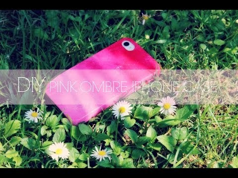 Diy pink ombre iphone case