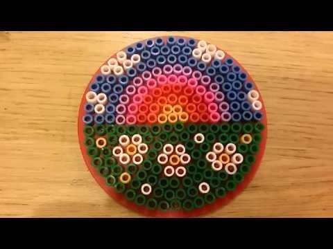 Tutorial arcobaleno | rainbow pyssla - hama beads