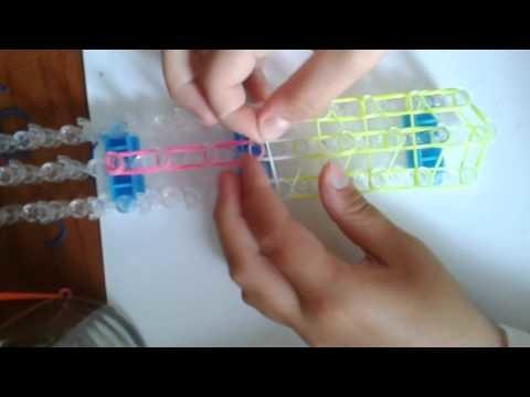 Tutorial:ghiacciolo con Gli elastici loom band ITA