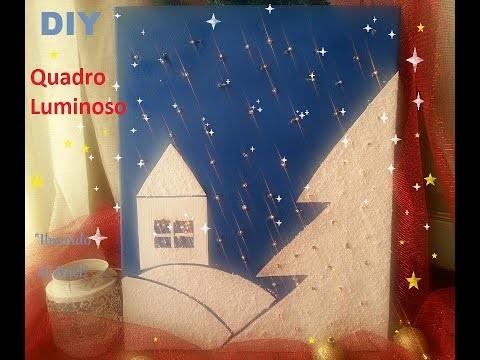 DIY QUADRO LUMINOSO,paesaggio innevato,natalizio