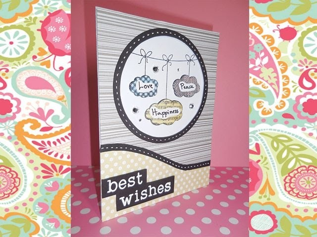 Scrap Tutorial: Biglietto Auguri. Best Wishes Card Nuvole sospese