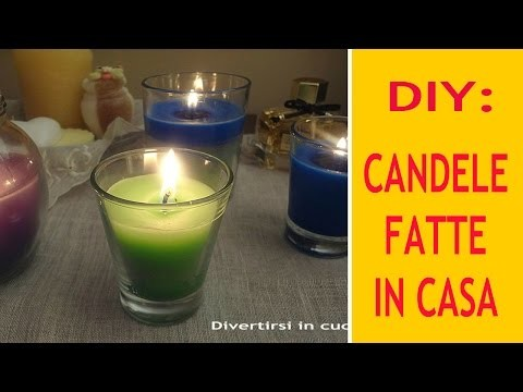 DIY: CANDELE FATTE IN CASA
