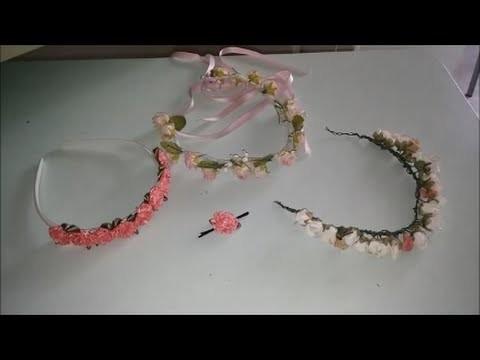 Diy: Coroncine e forcina di fiori:)