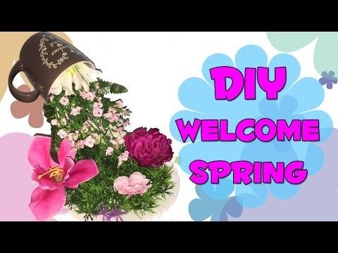 DIY: Home Decore Welcome Spring - Tazza di fiori