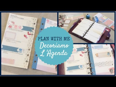 DIY PLAN WITH ME ❤ Decoriamo L' Agenda ❤ Gennaio.16