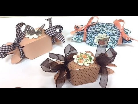 DIY Tutorial Candy Box con Envelope Punch Board