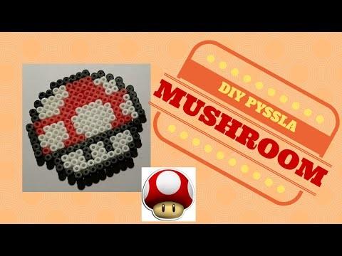 DIY - Tutorial Pyssla Mushroom 1up