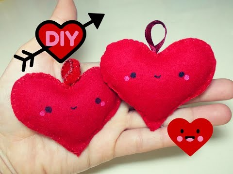 DIY Cuore Kawaii di Pannolenci ♥ Felted Heart Tutorial | Collab. SsVersion