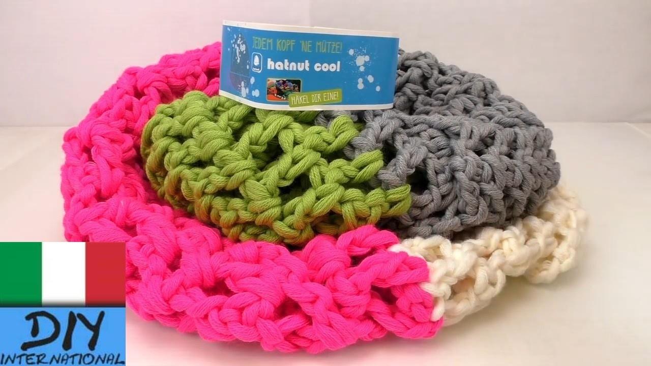 Istruzioni per modello del merletto ad uncinetto - sciarpa all'uncinetto con lana Hatnut Cool