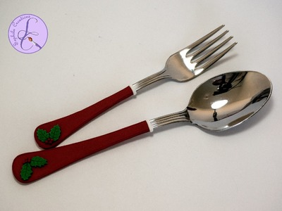 Tutorial: Posate Natalizie in Fimo (Christmas cutlery polymer clay)