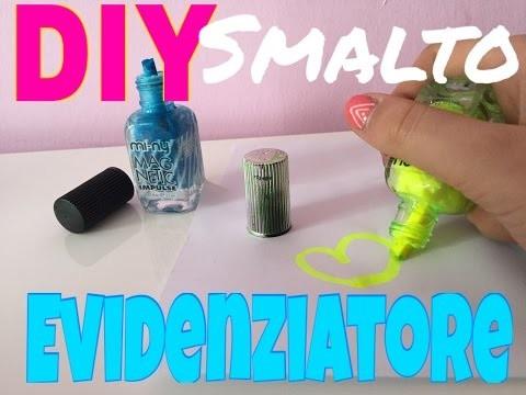 DIY creazioni: evidenziatore a forma di smalto ||sammisacc