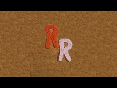 Lettera R all'uncinetto - Alfabeto all'uncinetto - tutorial crochet letter R