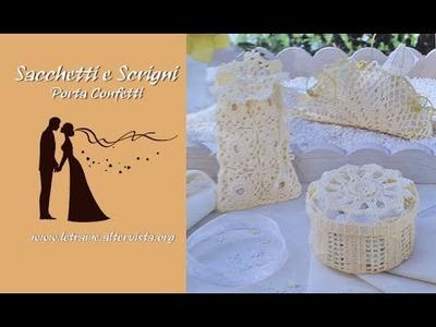 Tutorial Bomboniera all' uncinetto Scrigno rotondo - Round Chest Crochet- 1.2