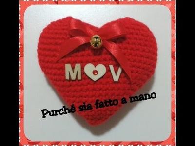 Cuore AMIGURUMI ad Uncinetto - 3D Crochet Heart