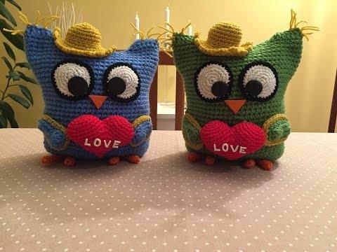 Gufetto Amigurumi tutorial. How to crochet owl Amigurumi