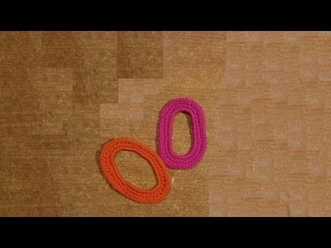 Lettera O all'uncinetto - Alfabeto all'uncinetto - tutorial crochet letter O