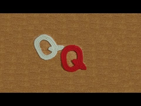 Lettera Q all'uncinetto - Alfabeto all'uncinetto - tutorial crochet letter Q