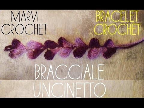 Tutorial bracciale uncinetto cuore. Crochet heart bracelet