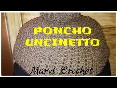 Tutorial cappa ,poncho uncinetto,crochet cape poncho