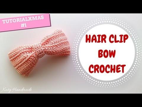TutorialXmas #1 | Hair clip bow crochet | Fermaglio per capelli | Katy Handmade
