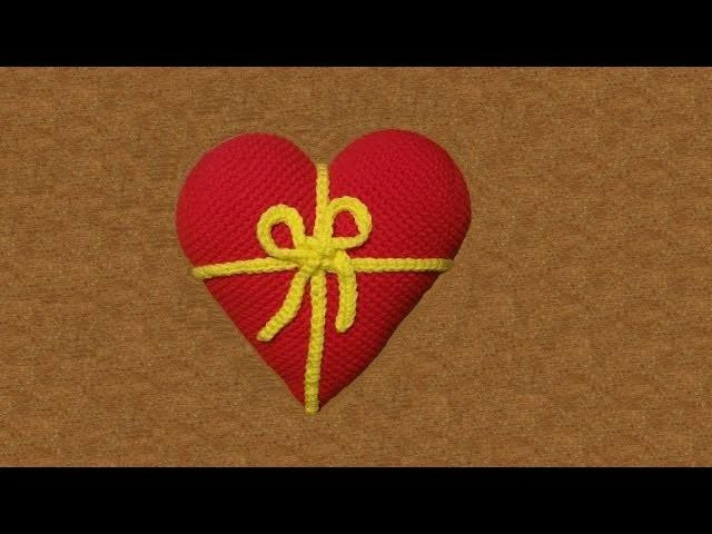 Cuore di San Valentino all'uncinetto -   tutorial passo a passo - crochet heart  -corazón en crochet