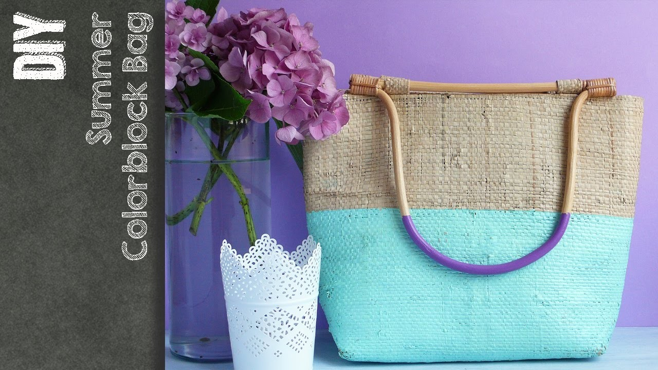 DIY Borsa di paglia estiva - Summer Bag - Restyling- tutorial