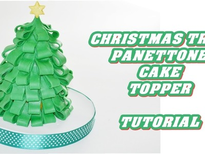 How to make a Christmas tree decorate fondant_ panettone pasta di zucchero albero natale tutorial